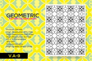 Print on Demand: Geometric Adult Coloring Pattern Page Graphic Coloring Pages & Books Adults By nur_vector