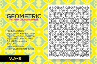 Print on Demand: Geometric KDP Coloring Pattern Page Graphic Coloring Pages & Books Adults By nur_vector