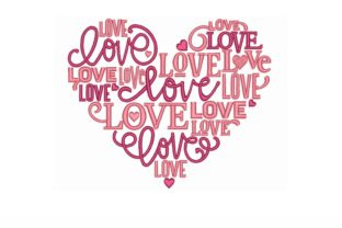 Heart Valentine's Day Embroidery Design By NinoEmbroidery