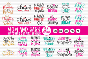 Mommy and Me Matching Outfits Bundle Graphic Crafts By CraftlabSVG