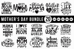 Mother's Day SVG Bundle | 20 Designs Graphic Crafts By CraftlabSVG