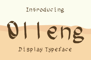 Print on Demand: Olleng Display Font By talithanavy