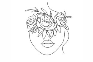 One Line Face Beauty Embroidery Design By SonyaEmbroideryStore