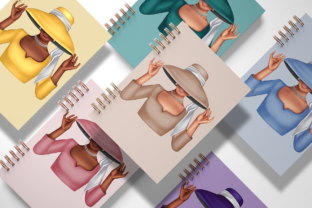 Print on Demand: PARIS FASHION GIRLS CLIPARTS Graphic Illustrations By TheGGShop 6