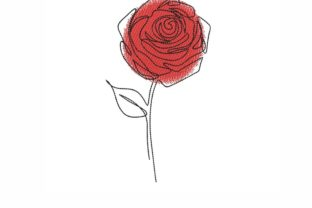 Rose Outline Flowers Embroidery Design By NinoEmbroidery