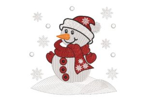 Print on Demand: Snowman Fairy Tales Embroidery Design By ArtEMByNatali