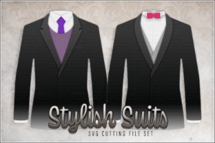 Print on Demand: Stylish Suits SVG Cut File Set Graphic 3D Shapes By gentlemancrafter