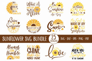 Sunflower Quotes SVG Bundle | 25 Designs Graphic Crafts By CraftlabSVG