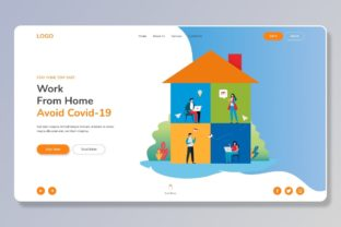 Print on Demand: Web Landing Page Template for Work Graphic Landing Page Templates By themesfusion