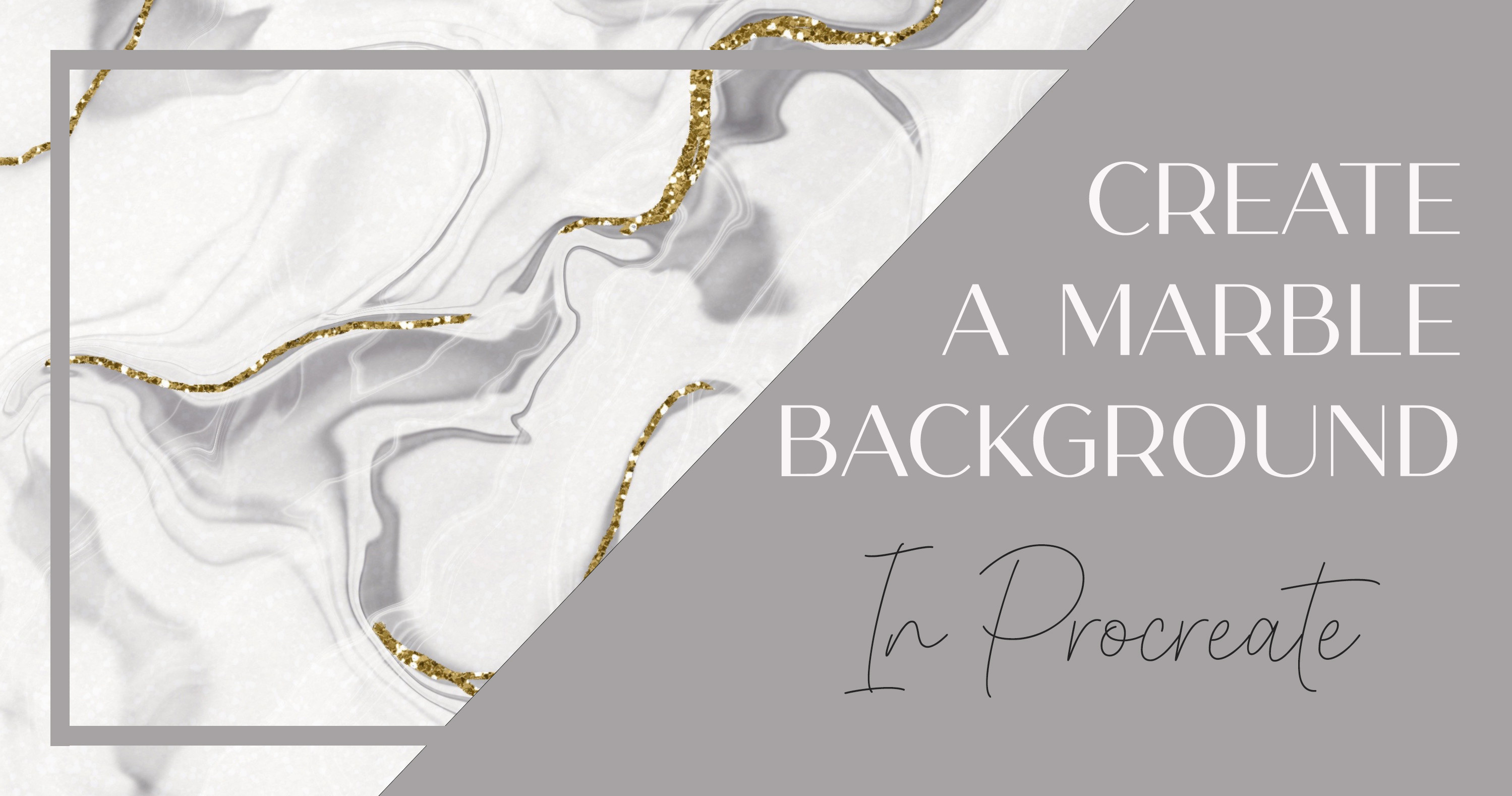 Create a Marble Effect Backing Paper in Procreate