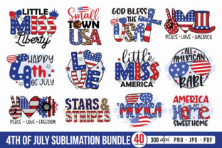 4th of July Sublimation Bundle Graphic Crafts By CraftlabSVG 1