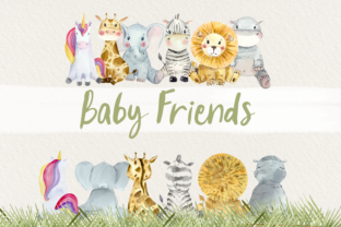 Baby Animals Front and Back Clip Art Graphic Illustrations By tatibordiu 2