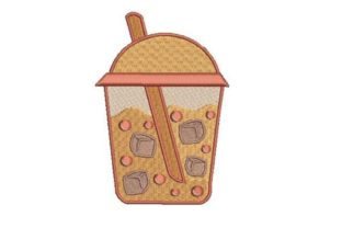 Bubble Tea Tea & Coffee Embroidery Design By Embroidery Designs
