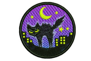Print on Demand: Cat Scary Look Cats Embroidery Design By Samsul Huda