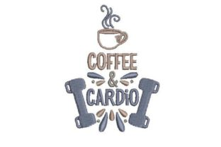 Coffee Cardio Wellness Embroidery Design By Embroidery Designs