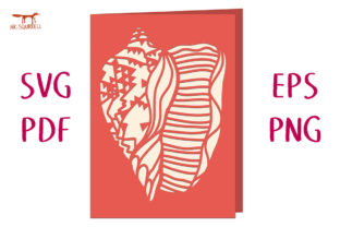 Conch Shell Greetings Card Graphic 3D SVG By Nic Squirrell