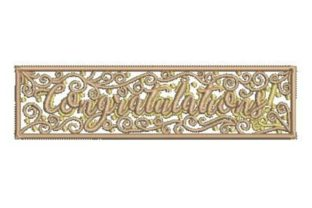 Congratulations Holidays & Celebrations Embroidery Design By Embroidery Designs