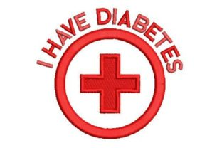 Diabetic Warning Awareness Embroidery Design By Embroidery Designs