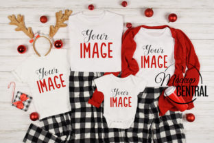 Family Christmas Matching T-Shirt Mockup Graphic Product Mockups By Mockup Central