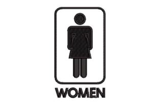 Female Toilet Sign Bathroom Embroidery Design By Embroidery Designs