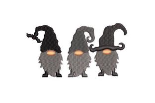 Gothic Gnomes Halloween Embroidery Design By Embroidery Designs