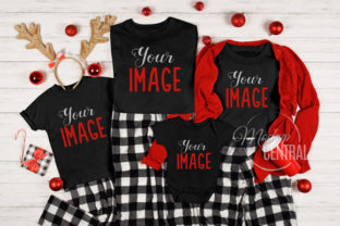 Matching Family Christmas T-Shirt Mockup Graphic Product Mockups By Mockup Central
