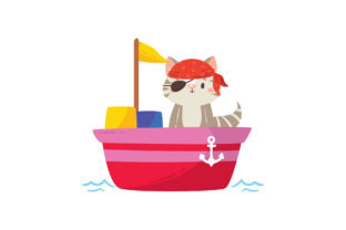 Pirate Animal on Board Graphic Illustrations By zia studio