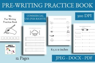 Print on Demand: Pre-Writing Practice Book Graphic PreK By Janet's Cute Designs 1