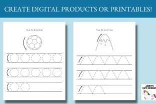 Print on Demand: Pre-Writing Practice Book Graphic PreK By Janet's Cute Designs 2