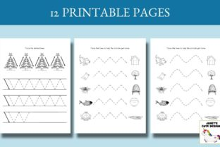 Print on Demand: Pre-Writing Practice Book Graphic PreK By Janet's Cute Designs 4