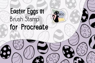 Print on Demand: Procreate Brush Stamp | Easter Eggs 01 Graphic Brushes By 18CC 3