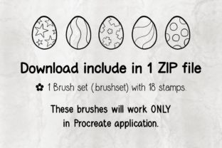 Print on Demand: Procreate Brush Stamp | Easter Eggs 01 Graphic Brushes By 18CC 4