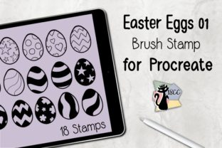 Print on Demand: Procreate Brush Stamp | Easter Eggs 01 Graphic Brushes By 18CC 1