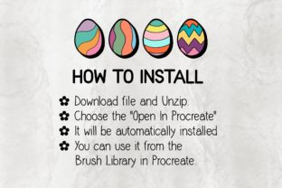 Print on Demand: Procreate Brush Stamp | Easter Eggs 01 Graphic Brushes By 18CC 5