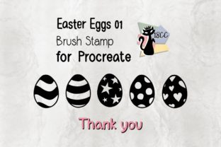 Print on Demand: Procreate Brush Stamp | Easter Eggs 01 Graphic Brushes By 18CC 6