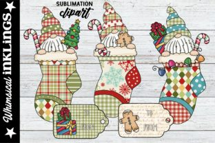 Stocking Peeker Gnomes Graphic Illustrations By Whimsical Inklings