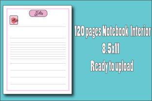 120 Pages Notebook Interior Graphic KDP Interiors By Ador Hasan