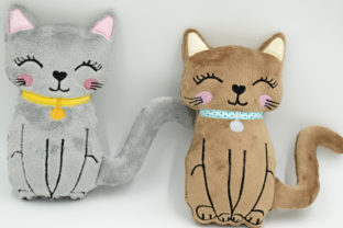 Cat Stuffie ITH Cats Embroidery Design By nolimitsdesignPL