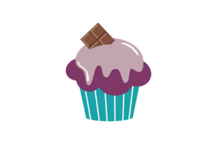 Cupcakes Desserts, Sweets Muffins Graphic Illustrations By zia studio 3