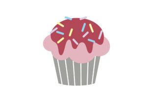 Cupcakes Desserts, Sweets Muffins Graphic Illustrations By zia studio