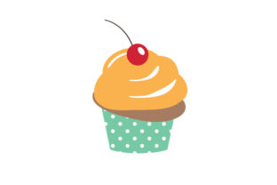 Desserts Cupcake on White Background Graphic Illustrations By zia studio 1