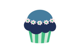 Desserts Cupcake on White Background Graphic Illustrations By zia studio