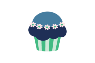 Desserts Cupcake on White Background Graphic Illustrations By zia studio 3