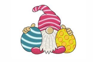 Easter Gnome Easter Embroidery Design By SonyaEmbroideryStore