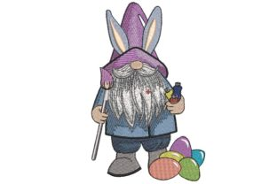 Print on Demand: Easter Gnome Easter Embroidery Design By ArtEMByNatali