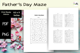 Print on Demand: Fathers Day Maze 05 | KDP Graphic KDP Interiors By Sei Ripan