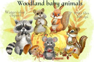 Print on Demand: Forest Animals Baby Watercolor Clipart. Graphic Illustrations By Marine Universe