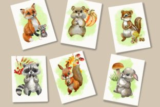 Print on Demand: Forest Animals Baby Watercolor Clipart. Graphic Illustrations By Marine Universe 4