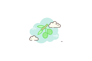 Fruit Icon Olive Cloud White Sky Blue Graphic Icons By liquidiestudio