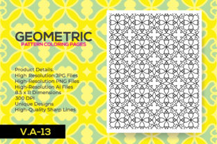 Print on Demand: Geometric Patten - KDP Coloring Pages Graphic Coloring Pages & Books Adults By nur_vector